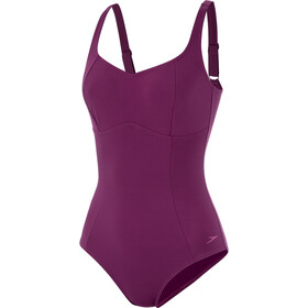 speedo ContourLustre One Piece Badpak Dames, deep plum
